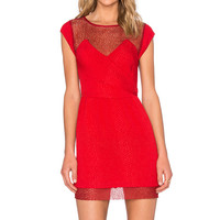 The Kooples Mini Dress in Red Poppy
