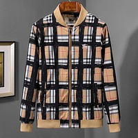 BURBERRY Autumn Winter Popular Men Women personality Zipper Cardigan Jacket Coat