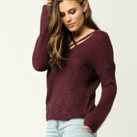 FULL TILT Essential Criss Cross Womens Sweater