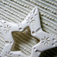 Wedding Decoration Custom Order White Ceramic Star / Ceramic Fairy Star / Home Decor / Wedding Favor / Christmas Ornament