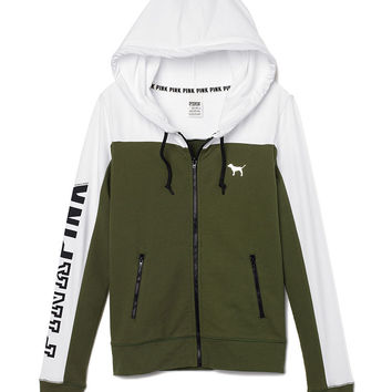 Perfect Funnel Neck Full-Zip Hoodie - from VS PINK | Quick Saves