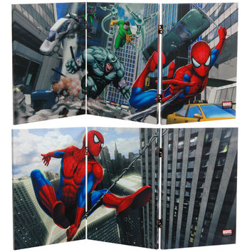 Spiderman 2 Ft Tall Canvas Room Divider