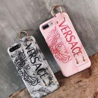 Versace Iphone7plus Iphone7plus Hand Shell 6s Marble Bracelet With Protective Shell Of Iphonex Leather