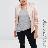 Missguided Plus | Missguided Plus Satin Bomber Jacket at ASOS