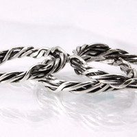 Dainty Stacking Rings Solid Sterling Silver Twisted Wire.