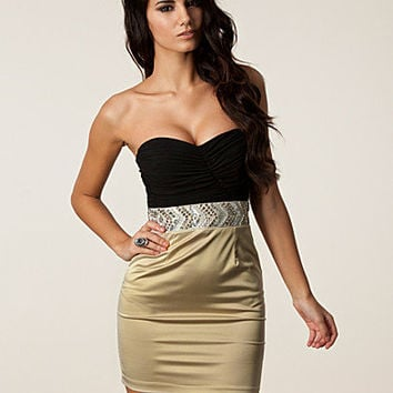 Bandeau Trim Pencil Dress, Elise Ryan