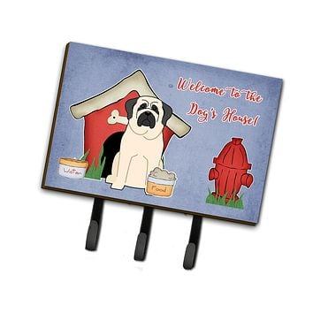 Dog House Collection Mastiff White Leash or Key Holder BB2771TH68
