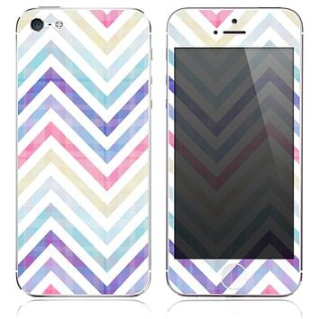 The Icey Sharp Chevron Pattern Colored Skin for the iPhone 3, 4-4s, 5-5s or 5c