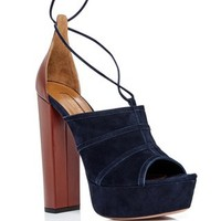 Very Eugenie Blue Suede Pumps