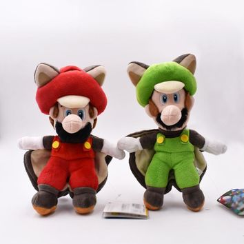 "Super Mario party nes switch   9""23cm  Bros Plush Toys Musasabi Flying Squirrel  Luigi Toys Stuffed Soft Plush Doll Kids Gift AT_80_8"