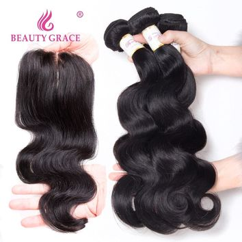 Brazilian Hair Weave Bundles Human Hair Body Wave Bundles With Closure Non Remy Bodywave 3 Bundles With Closure Brazillian Hair