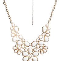 Statement Faceted Necklace - WetSeal
