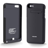 i-Blason PowerSlider Lightning iPhone 5 Rechargeable External Battery Glider Full Protection Case with Apple new 8 Pin Lightning Charging Connectors - AT&T, Sprint, Verizon (Black)