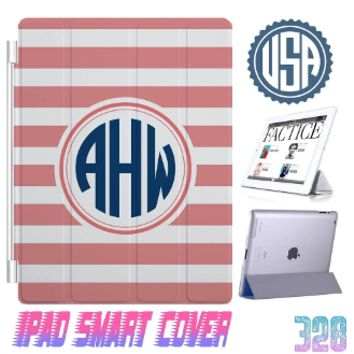 Personalized iPad Mini Smart Cover Monogram iPad Air 2 case iPad 4 3