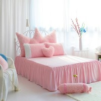 Romantic Color Block Luxury 4-Piece Velvet Bedding Sets/Duvet Cover