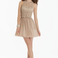 Short Lace Halter Dress from Camille La Vie and Group USA