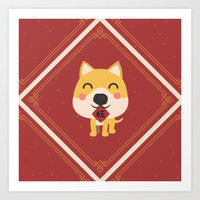 Year of the Dog Art Print by lalainelim