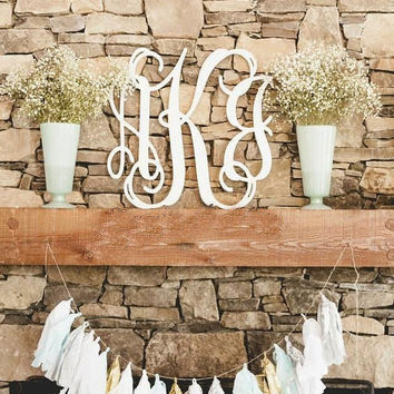 Wooden Monogram - Wood Initials - Dorm Room Monogram - Monogram Wall Hanging - Bedroom Decor - Nursery Monogram - Monogram Art - Custom