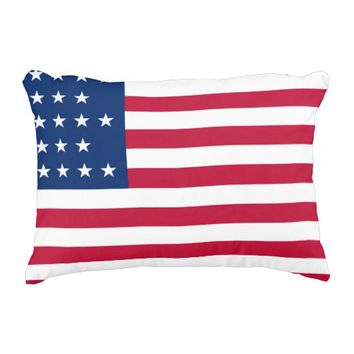 American Flag Patriotic Decorative Pillow