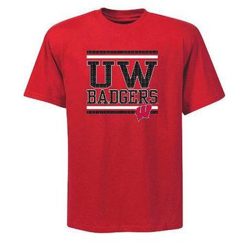 Wisconsin Badgers Logo T-Shirt Big and Tall Sizes NCAA Apparel