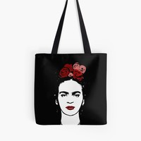 'Frida Kahlo' Tote Bag by ValentinaHramov