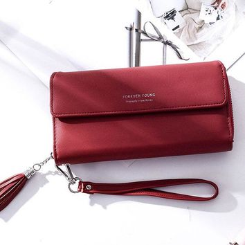 Women Stylish Trifold Long Wallet Clutch Bags