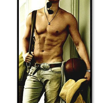 iPhone 4 case iPhone 4s case - Channing Tatum shirtless iPhone Hard Case-graphic Iphone case