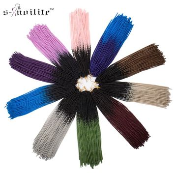 Snoilite 3 Pack/lot 24 inches Synthetic Braiding Hair Extensions 20 Strands/pack Dreadlocks Crochet Braids Dread Hairstyle