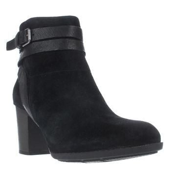 Clarks Enfield River Strappy Ankle Boots, Black, 9 US / 40 EU