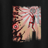 Karate Kid parody Deadpool Dead pool Marvel Avengers xmen wolverine tee t-shirt