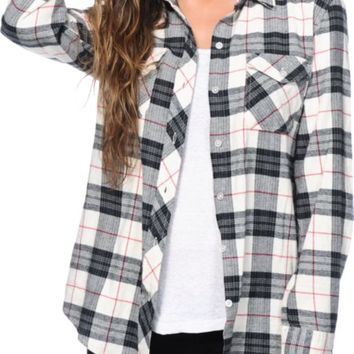 Empyre Courtland Black White Flannel Shirt