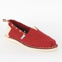 Toms - Summer Stitchouts Womens Shoes In Red Bimini
