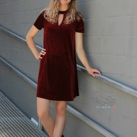 Stunning Velvet Dress in Wine