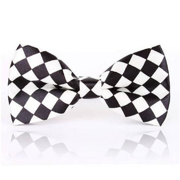 Plaid Bow ties for Men butterfly