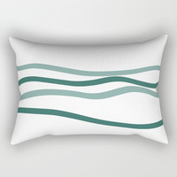 sea is blue Rectangular Pillow by Ia Po