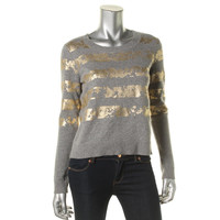 Rachel Roy Womens Cashmere Blend Heathered Pullover Sweater