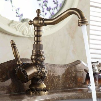 Bathroom Faucet With In Antique Finishes