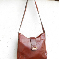 Vintage GAMAK PARIS Leather Tote , Shoulder Bag // Medium // Made in France