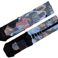 Biggy and Tupac Custom Nike Elite Socks