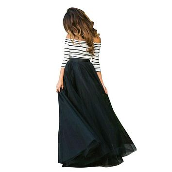 Women Off Shoulder Sexy Formal Evening Long Dress