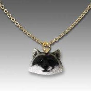 RACCOON TINY ONE HEAD PENDANT