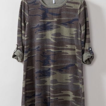 The Camo Symphony Dress Z supply