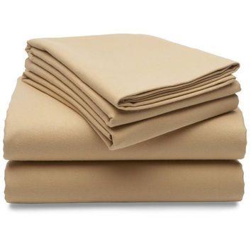 Regal Comfort Bamboo Luxury 2100 Series Hotel Quality Sheet Queen Sand