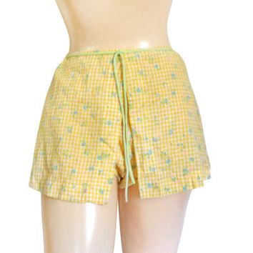 Swim Skirt 50s Swimsuit Yellow Swimsuit 60s Swimsuit Bathing Suit Bottom Two Piece Swimsuit 1950s Swimsuit Beachwear Bathing Suit Women