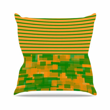 "Trebam ""Listati V2"" Orange Green Modern Vector Throw Pillow"