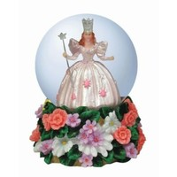 Westland Giftware Resin Water Globe, Glinda On Munchkinland Flowers, 45 mm