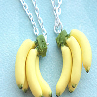 banana bunch friendship necklace