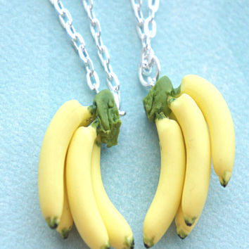 Banana Bunch Friendship Necklace Set