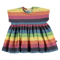 Molo Baby Girls' CHANNI Rainbow Stripe Dress