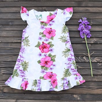 Hibiscus Flower Girl Dress
